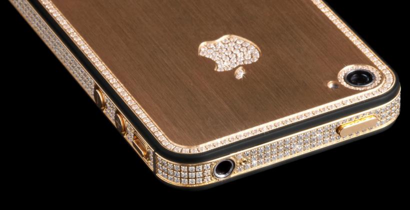 iPhone-5-9 con incrustaciones de oro y diamantes