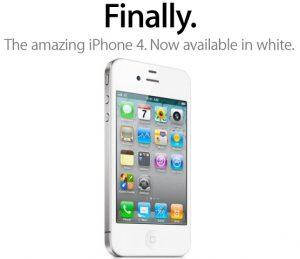 ¡Finalmente!  iPhone 4 en blanco ya está disponible