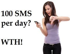 ¡Se acabó el juego, Heavy Texters!  100 SMS al día.  Sugerimos algunas alternativas
