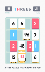 ¡Tres!  juego de rompecabezas basado en números ahora disponible en Android