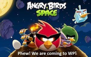 ¡Uf!  Angry Birds Space llegará a Windows Phone