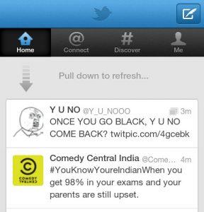 """¿Sabías que la patente de la función """"Desplegar para actualizar"""" es propiedad de Twitter?"""