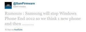 ¿Samsung dejará Windows Phone a partir de 2013? [Rumour]