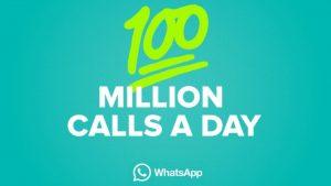 100 millones de llamadas de voz que se realizan a través de WhatsApp todos los días