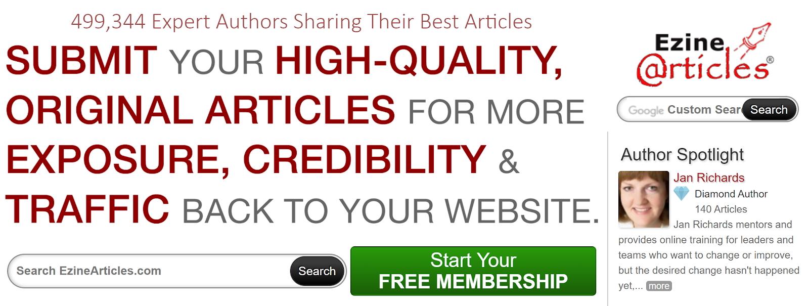 contenido gratuito del sitio web