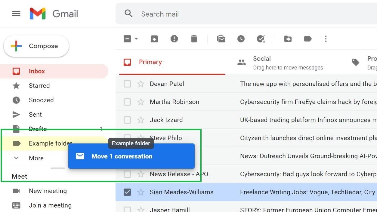 Paso 7: Cómo crear carpetas en Gmail