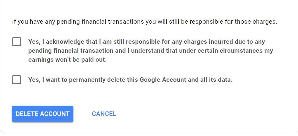 Paso 8: Cómo eliminar su cuenta de Gmail