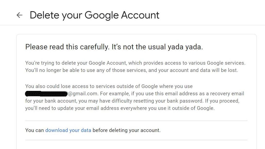 Paso 7: Cómo eliminar su cuenta de Gmail