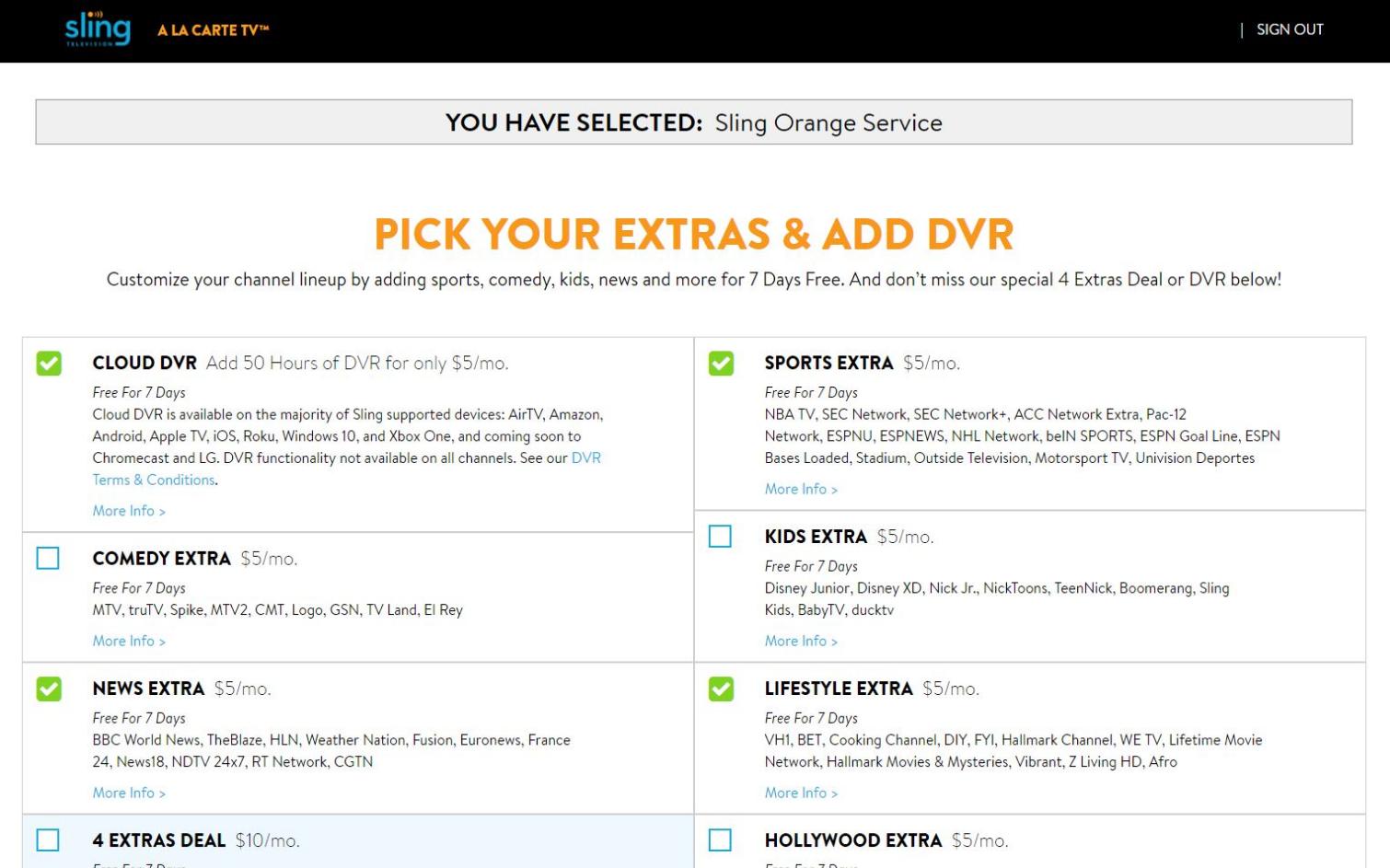 Prueba gratuita de Sling TV: ¿quieres extras?