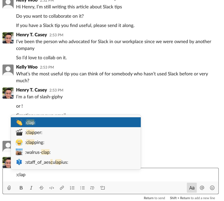 Consejos y trucos de Slack: emojis