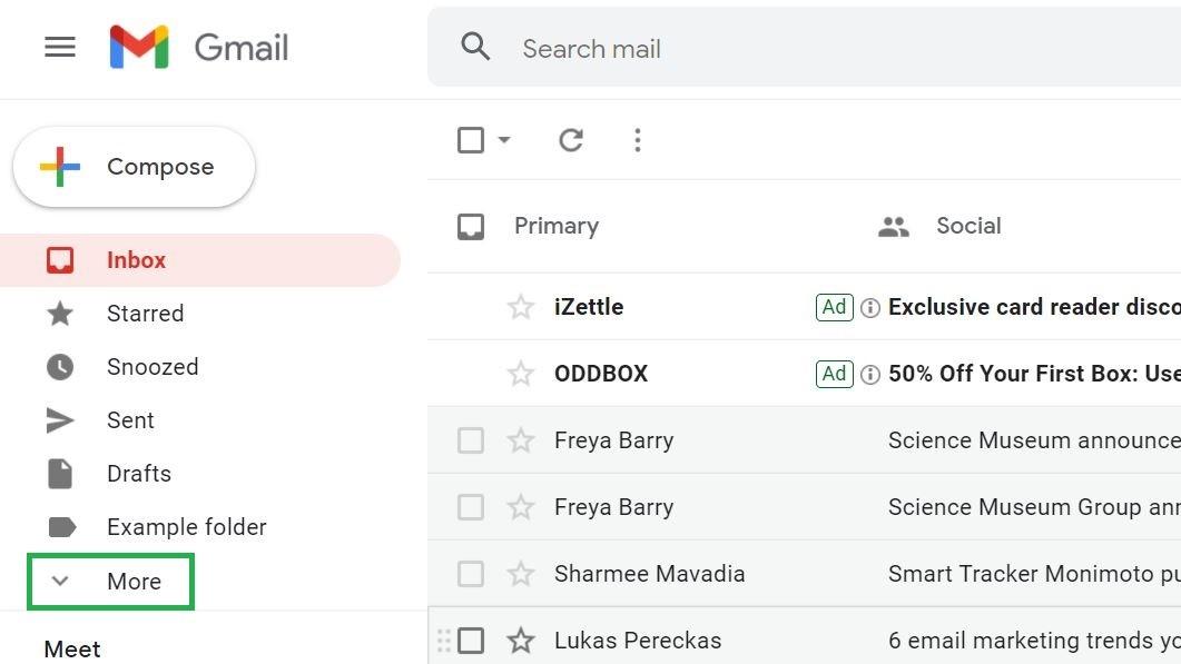Paso 4: Cómo archivar el correo electrónico en Gmail