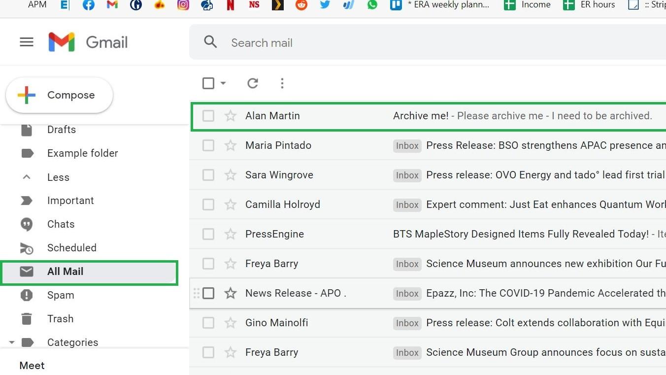 Cómo archivar el correo electrónico en Gmail