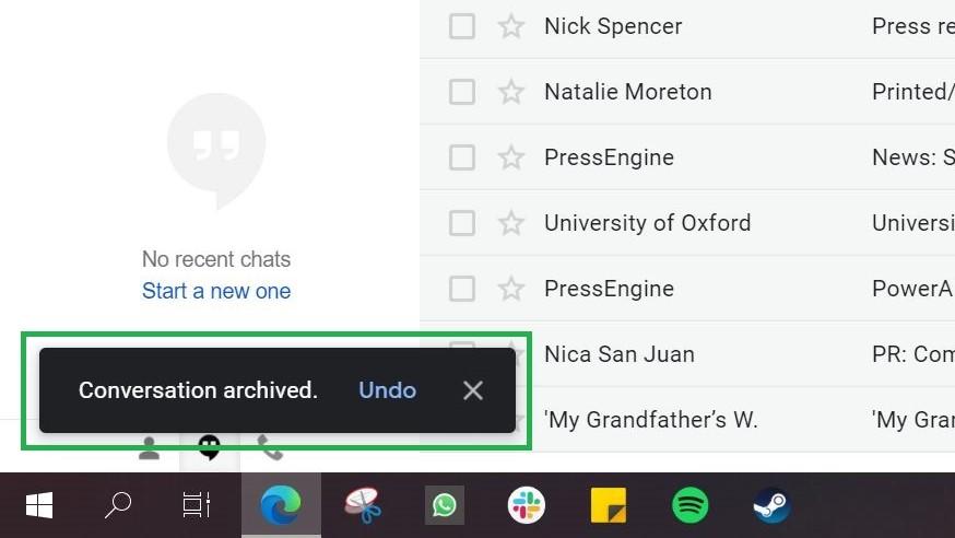 Paso 3: Cómo archivar el correo electrónico en Gmail