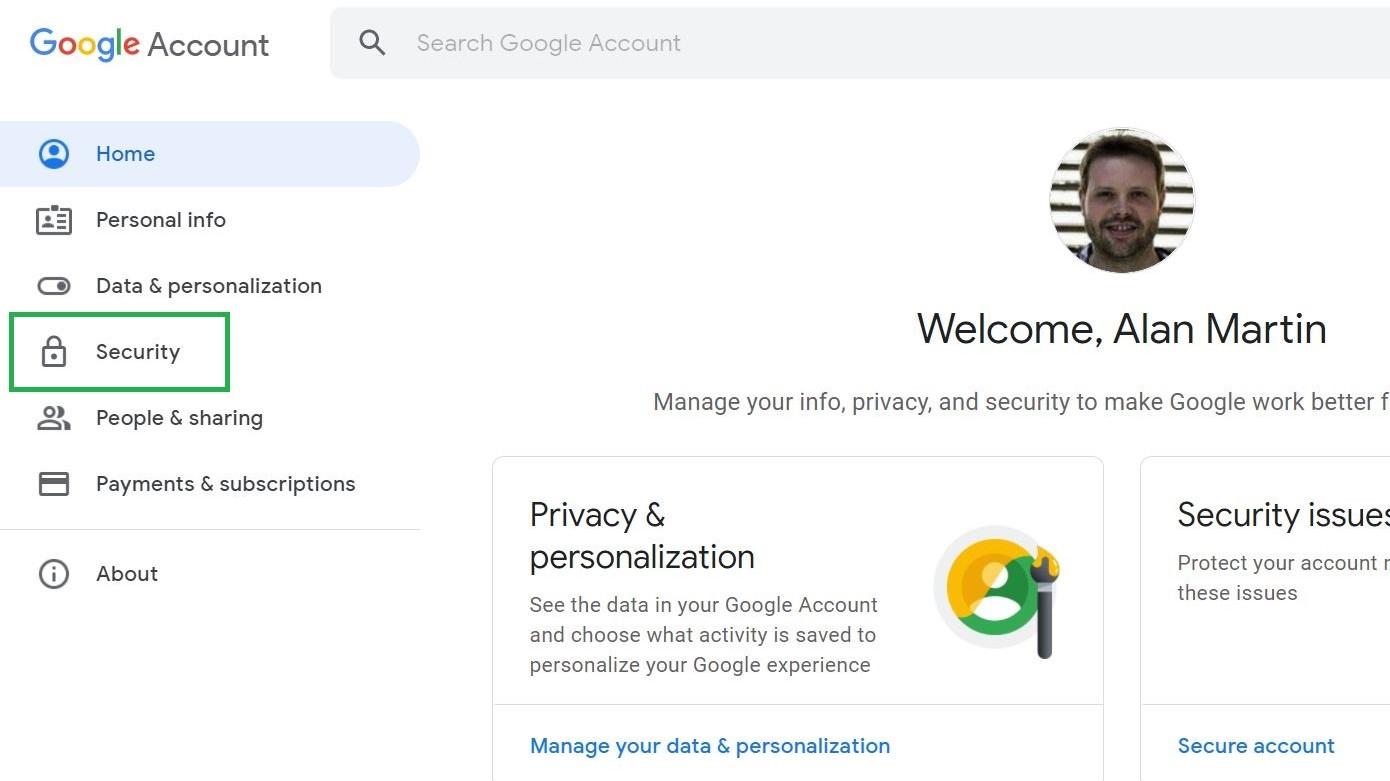 Paso 2: Cómo cambiar la contraseña en Gmail