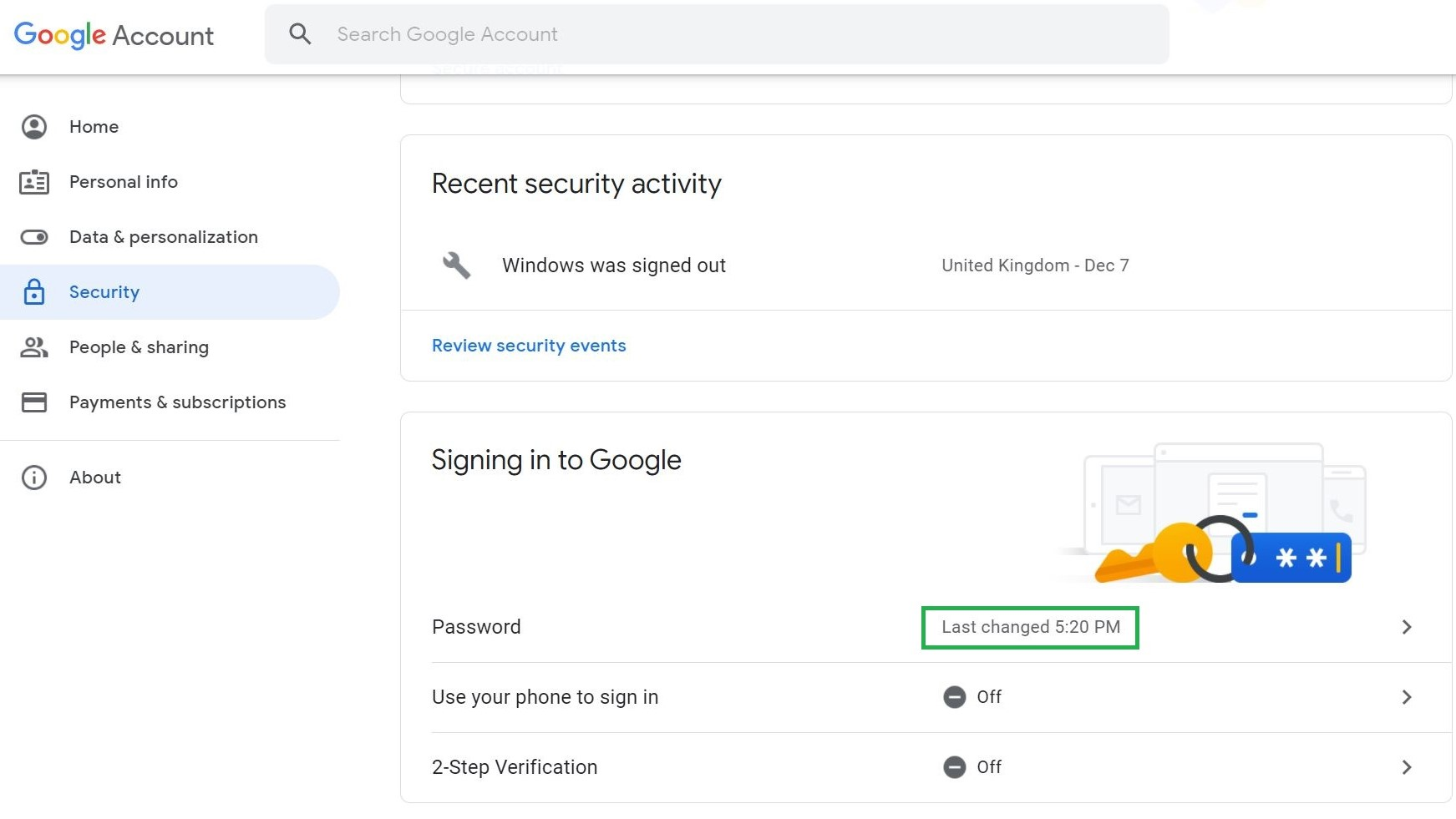 Paso 5: Cómo cambiar la contraseña en Gmail