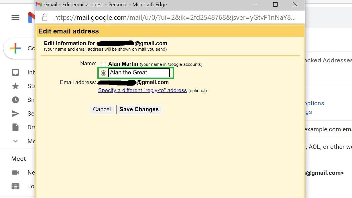 Paso 5: Cómo cambiar el nombre en Gmail