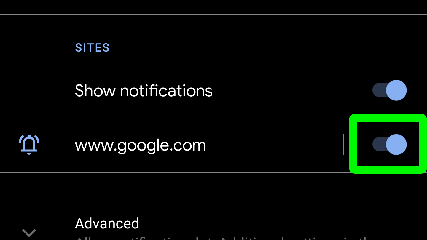 desactivar las notificaciones push