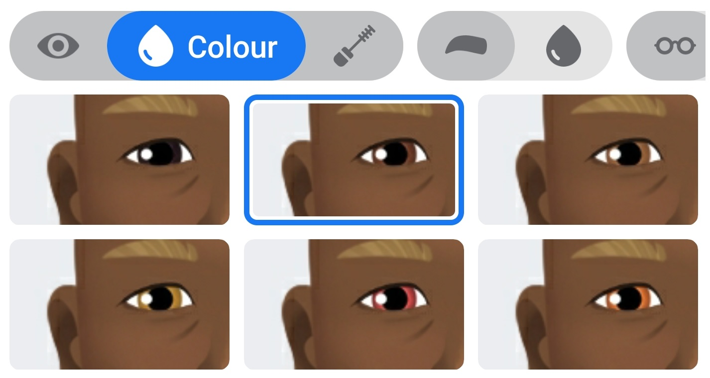 Color de ojos de Avatares de Facebook