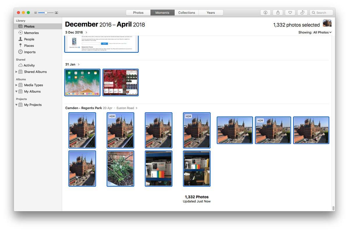 Cómo descargar fotos de iCloud a Mac: aplicación Fotos