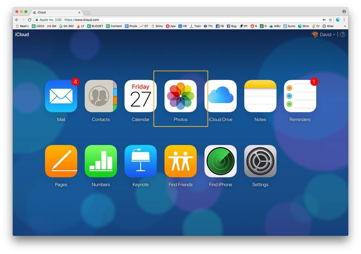 Cómo descargar fotos de iCloud a Mac: iCloud.com