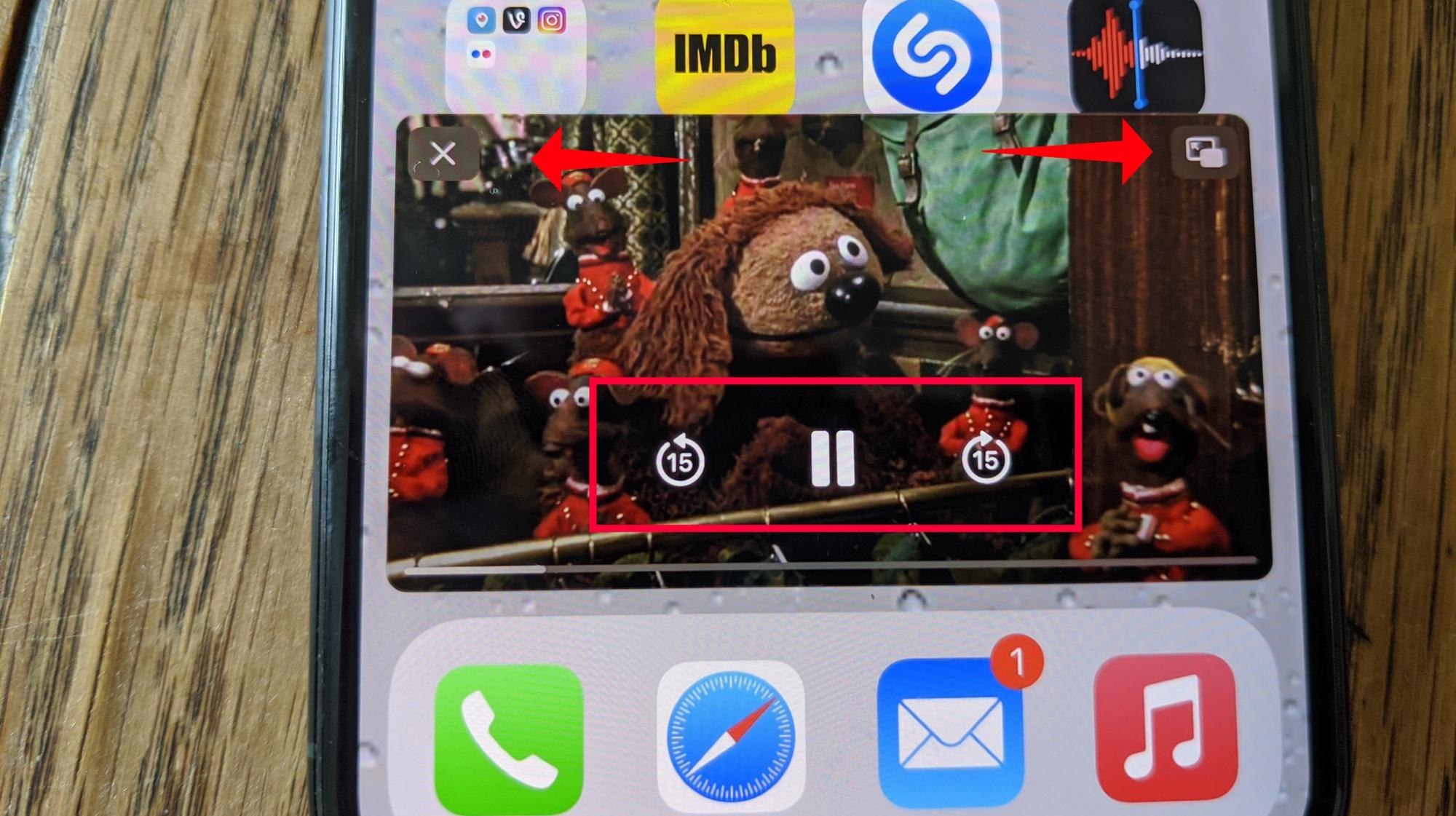 cómo usar la imagen en imagen de iOS 14