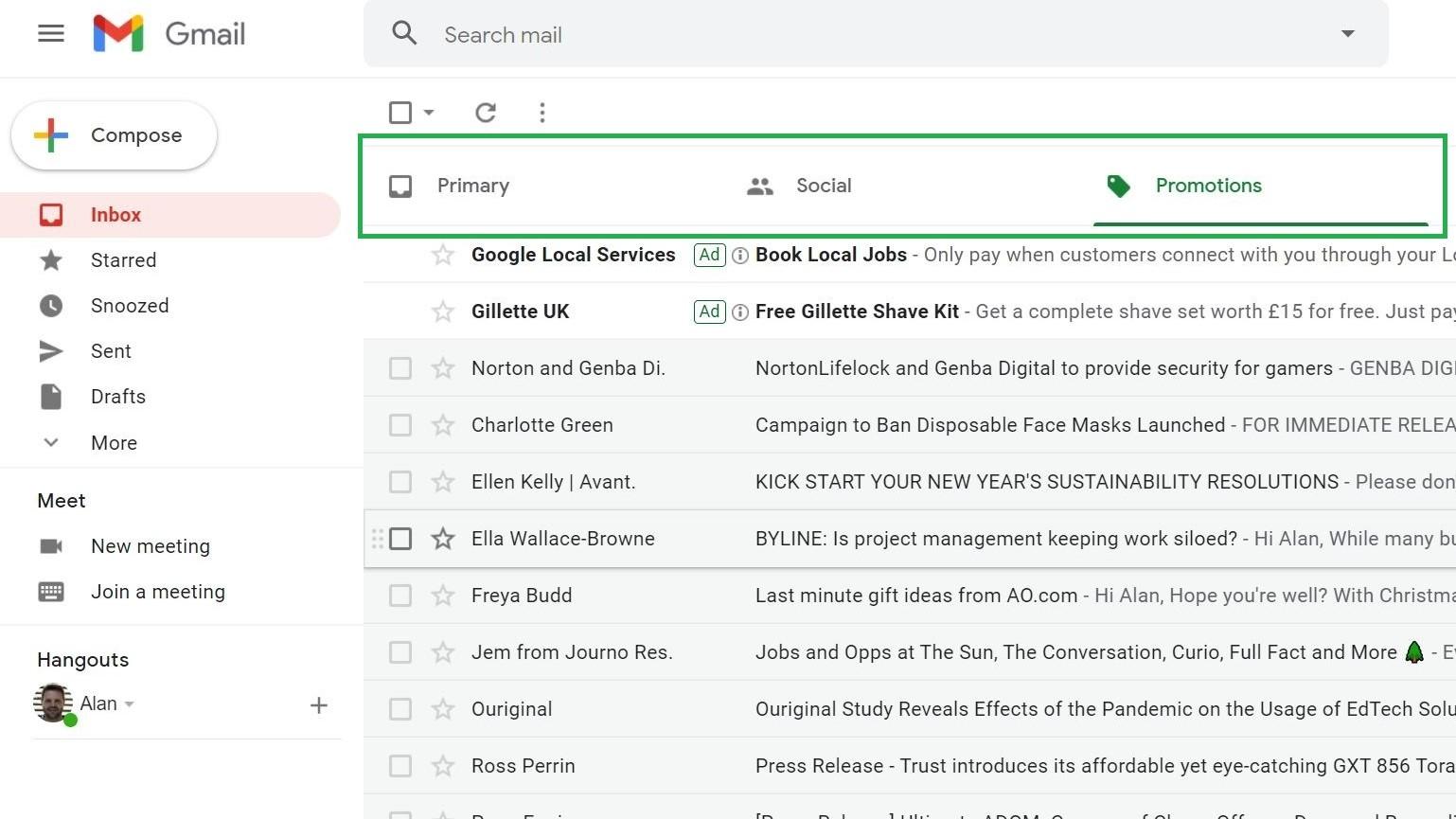 Paso 1: Cómo eliminar todo el correo electrónico en gmail
