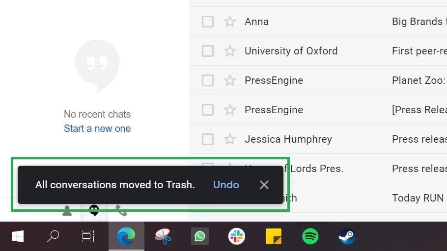 Paso 5: Cómo eliminar todo el correo electrónico en gmail