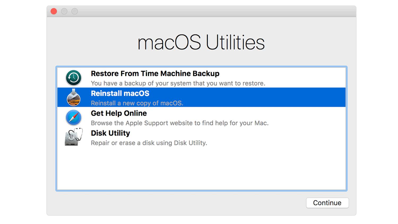 Cómo restablecer una Mac sin la contraseña: utilidades de macOS