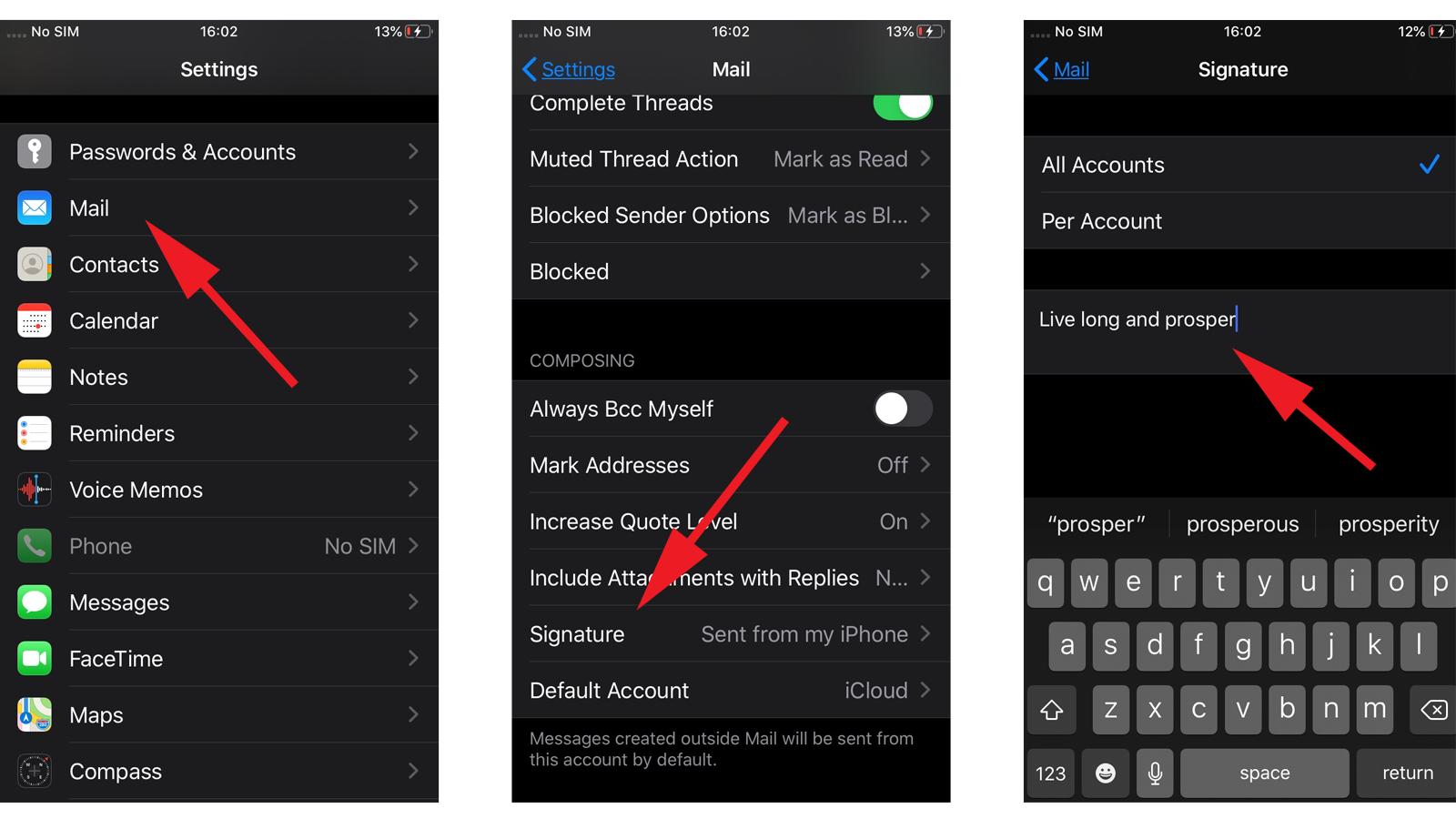 Cómo eliminar 'Enviado desde mi iPhone' en Mail: Configuración