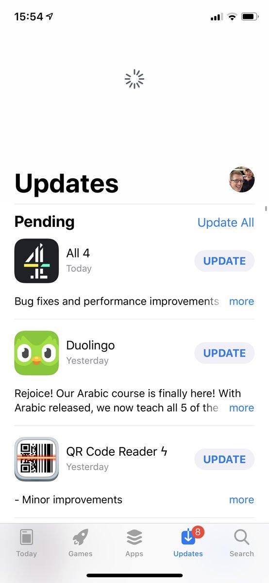 Cómo solucionar problemas de 'iPhone no se conecta a la App Store': Actualizar actualizaciones