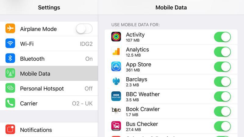 Qué hacer si su iPhone o iPad no se puede conectar a la App Store: datos móviles