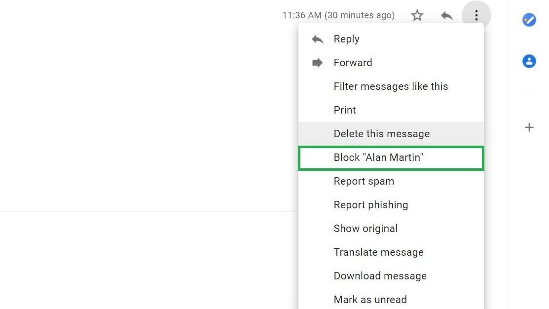 Paso 4: Cómo bloquear correos electrónicos en Gmail