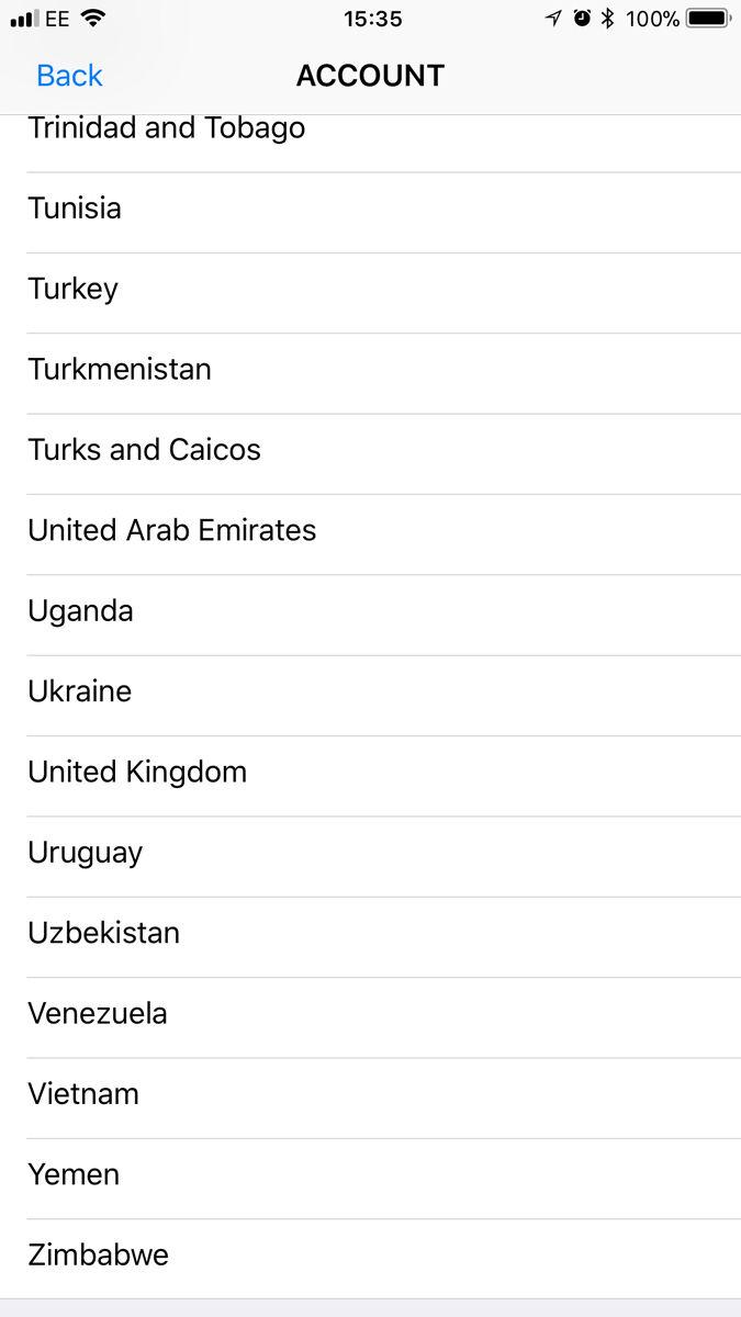 Cómo cambiar App Store a Reino Unido en iPhone y iPad: Elija país