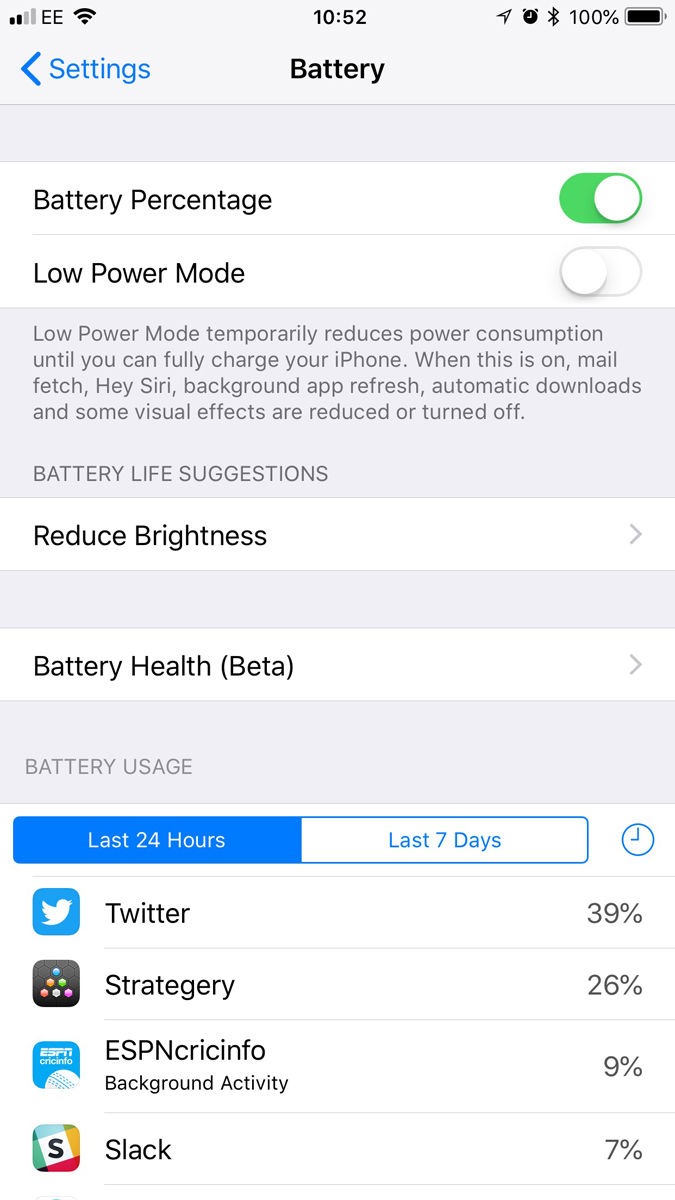 Cómo mostrar el porcentaje de batería del iPhone: otros modelos