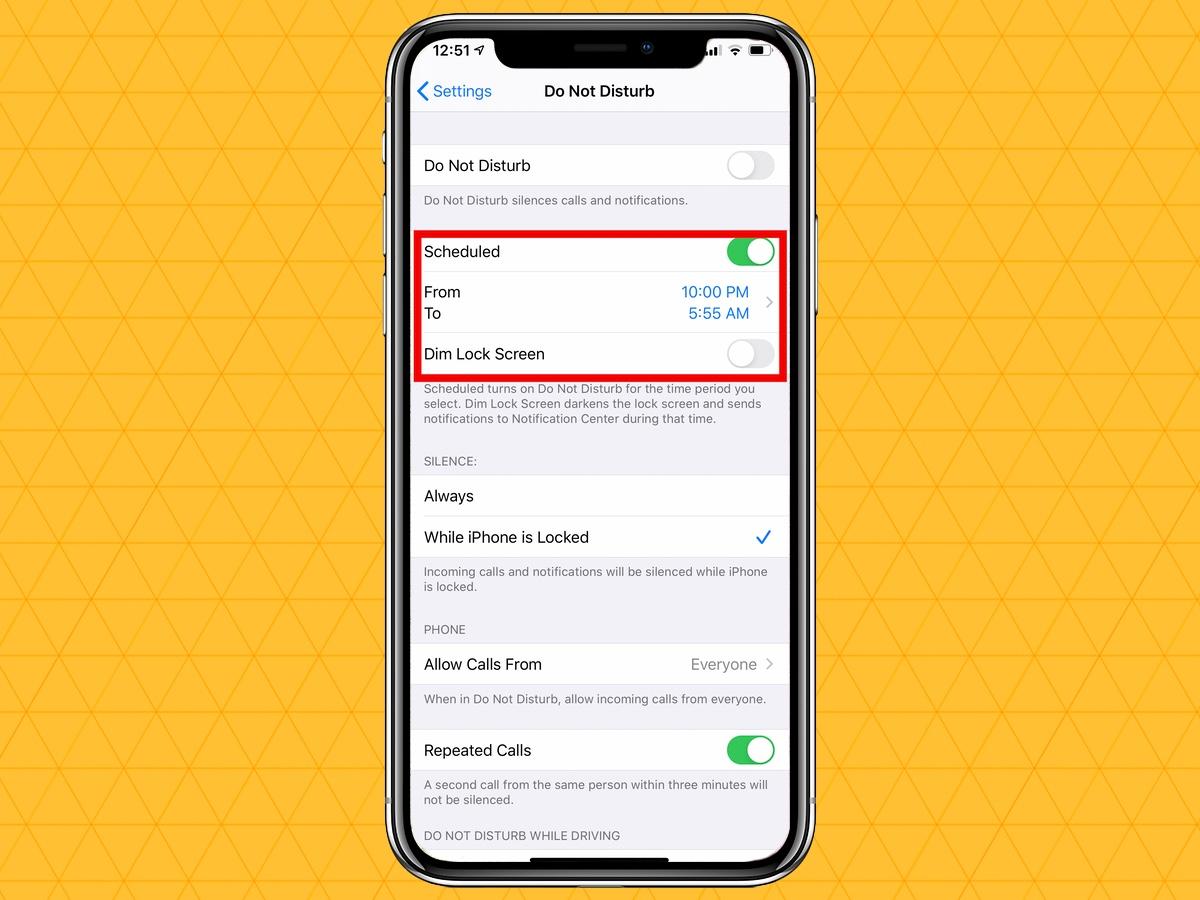 silenciar notificaciones en tu iphone programadas