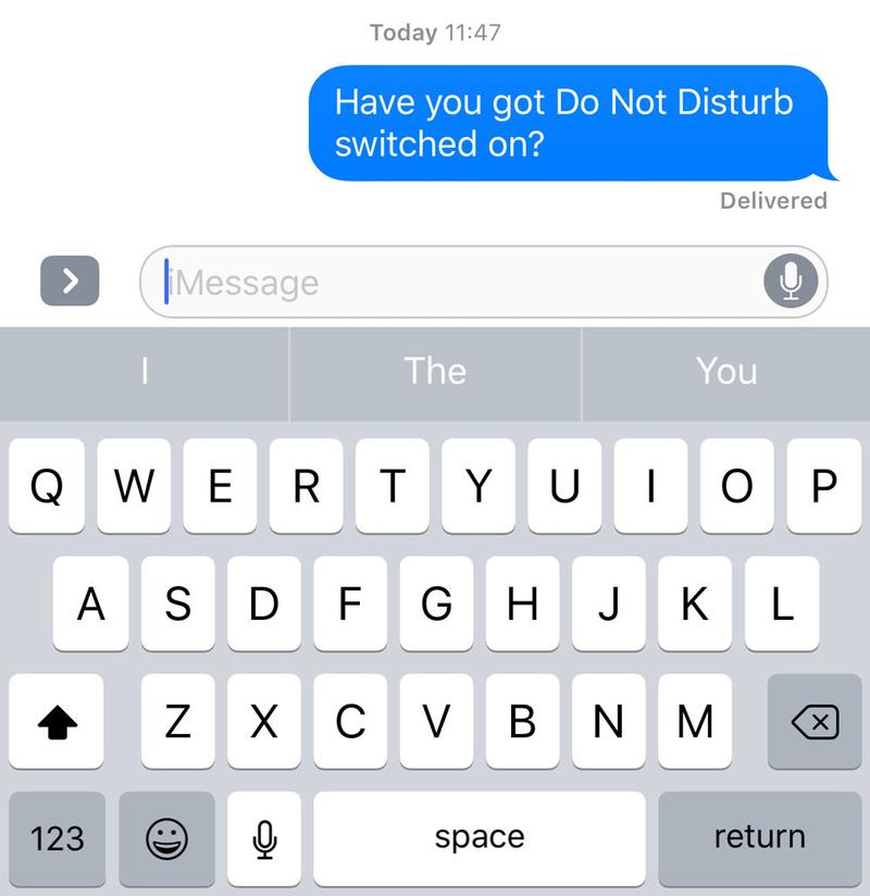 Cómo saber si el iPhone de alguien está en modo No molestar: iMessage