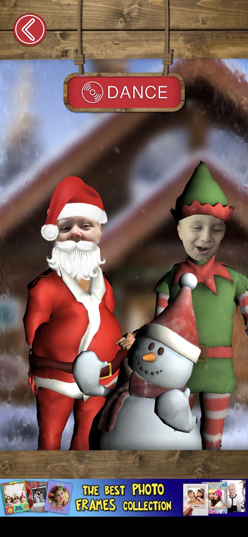 Aplicación de movimientos de baile de Navidad