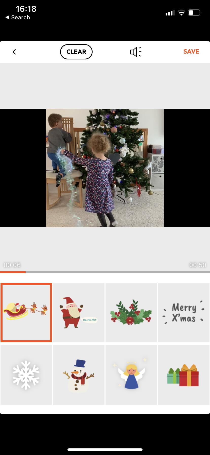 Agrega efectos navideños al video
