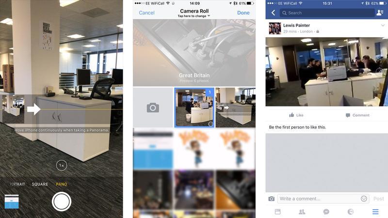 Cómo tomar fotos de 360 grados en iPhone y iPad: fotos panorámicas