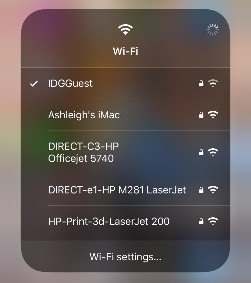 Elija WiFi en iOS 13