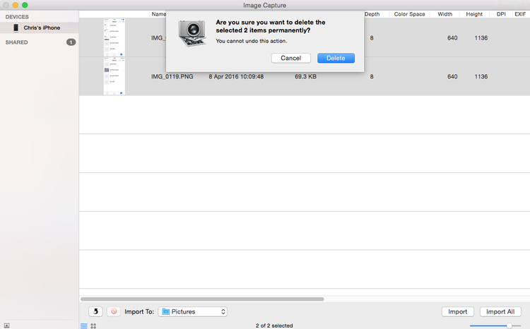 Cómo eliminar todas las fotos del iPhone: Eliminar captura de imagen