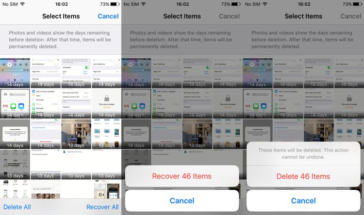 Cómo eliminar todas las fotos del iPhone: Eliminado recientemente