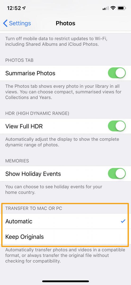 Cómo compartir archivos JPEG desde iPhone, no HEIC: transferir en JPG