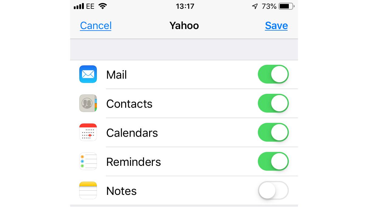 Cómo configurar y enviar correo electrónico en iPhone y iPad: cuenta de Yahoo
