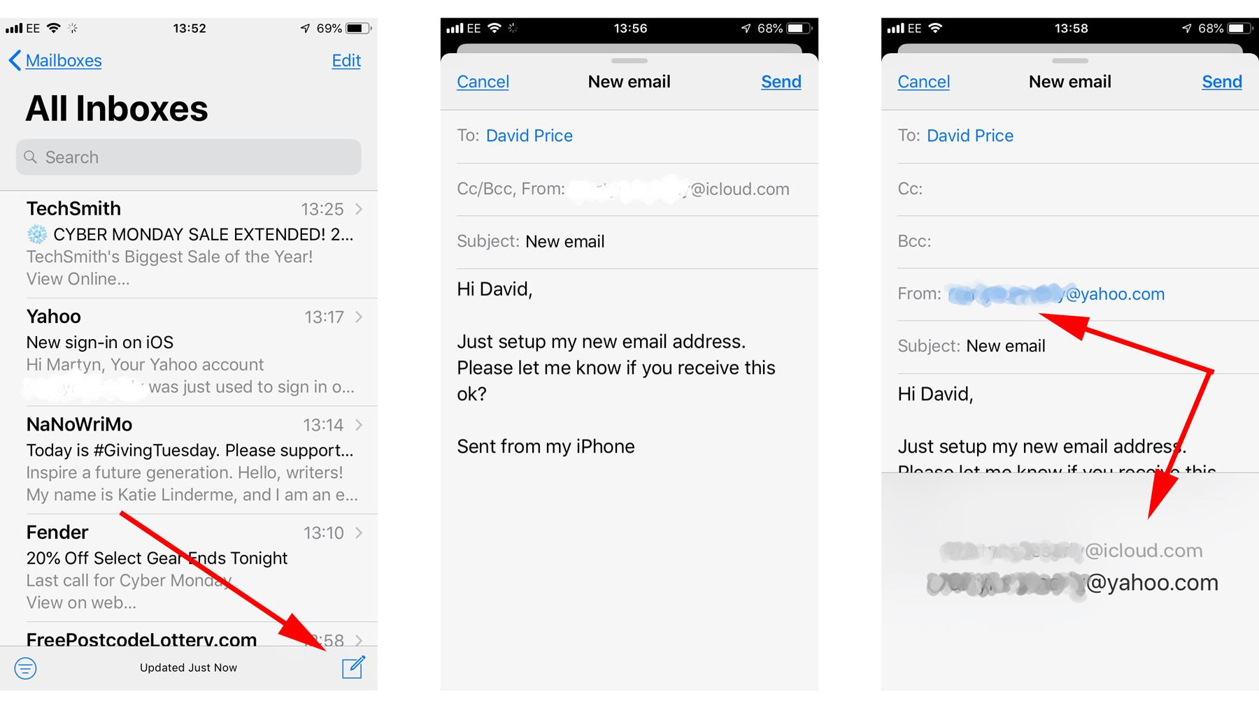 Cómo configurar y enviar correos electrónicos en iPhone o iPad: Enviar correo electrónico de prueba