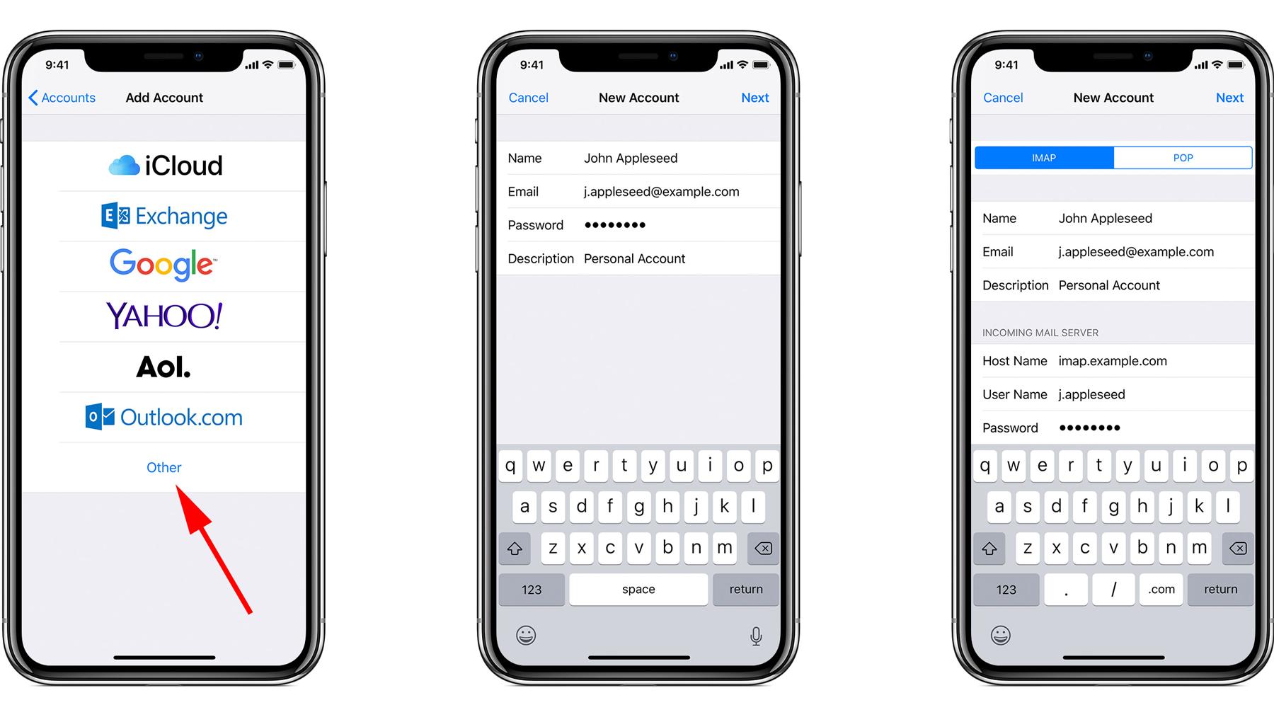 Cómo configurar y enviar correos electrónicos en iPhone o iPad: Agregar cuenta
