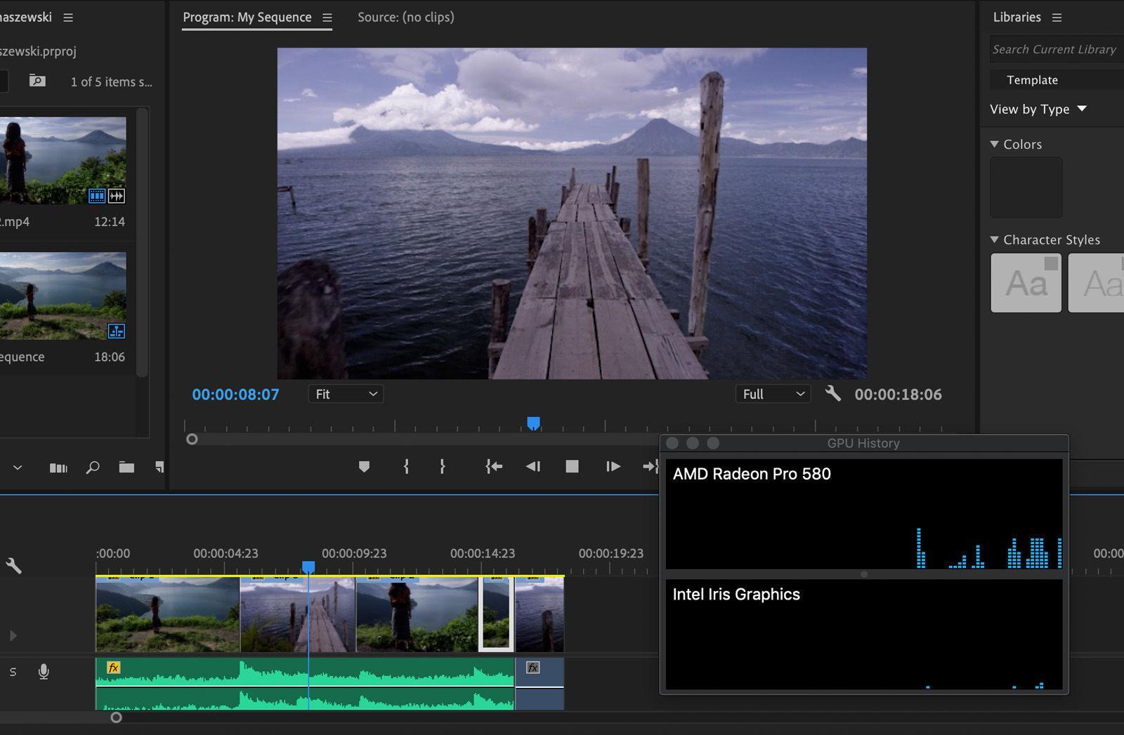 Representación de video en Mac antiguo usando eGPU