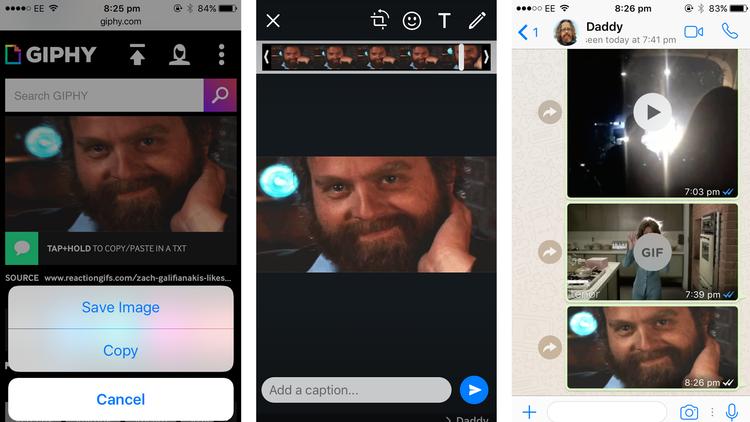 Cómo enviar GIF en WhatsApp