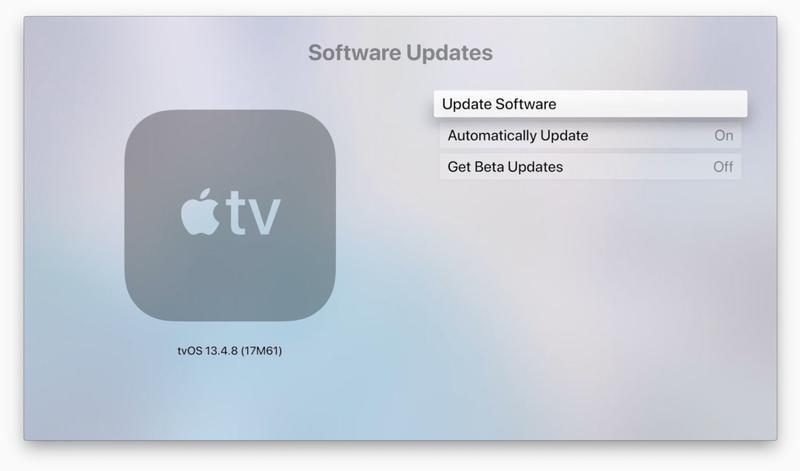 Cómo actualizar tvOS en Apple TV: Configuración