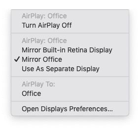 Pantalla Mac espejo Apple TV